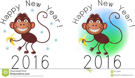 new year monkey element monkey stock vector image 61756306