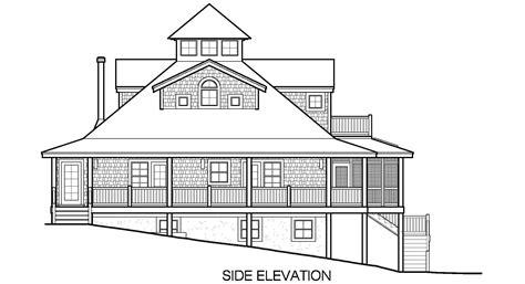 side elevation 100 side elevation island cottage basement