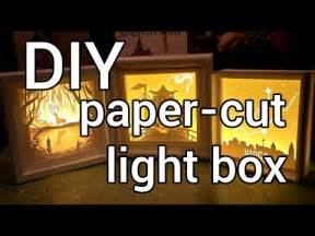 how to make a paper cut light box diy