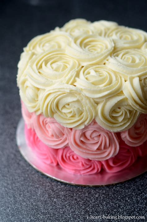 red roses pink ombre cake i heart baking pink ombre rose cake