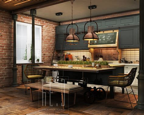 Home Decor Industrial Style by Industrial Kitchen Decor Interior Design Ideas