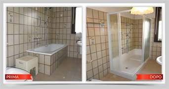 doccia al posto della vasca da bagno prezzi trasformazione vasca in doccia tecnobad