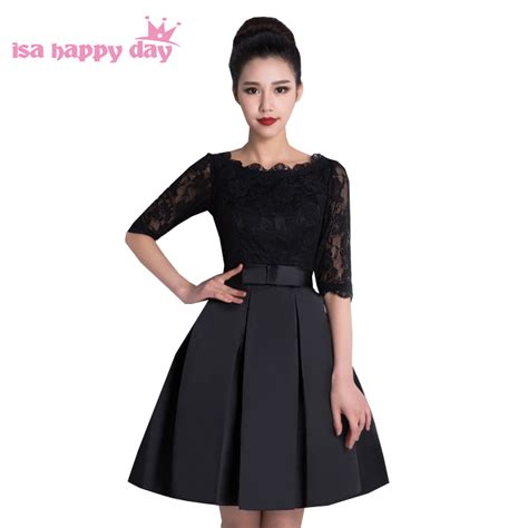 Dress Dress Tile Hitam Pink Black new arrive black lace modest semi formal pink prom dress sweet 16 dresses
