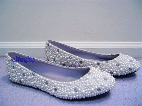 flat bridal shoes with bling ivory pearl wedding flat shoes flat pearl bridal shoes