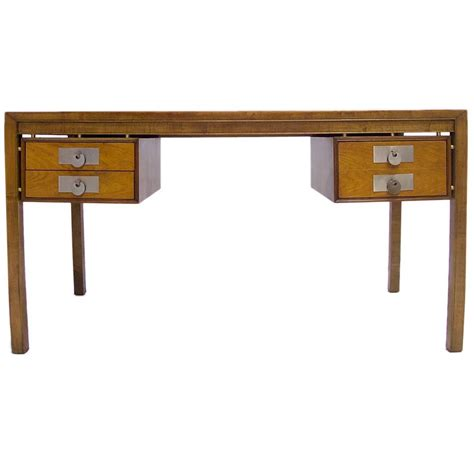 Modern Desk Sale Michael For Baker Mid Century Modern Desk In Walnut With Disc Pulls For Sale At 1stdibs