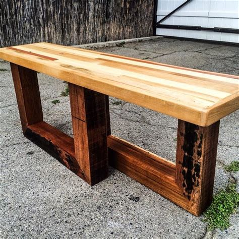 wood pallet benches diy chic pallet entryway bench with beefy legs wooden