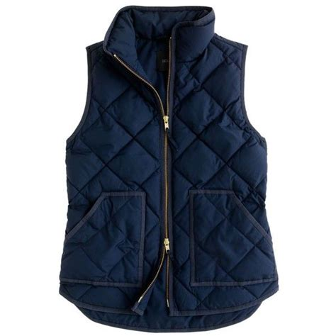 Navy Blue Quilted Vest by J Crew Excursion Quilted Vest Clothing Obsessed