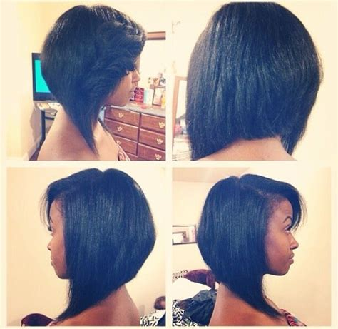 graduated bob for permed hair graduated bob shared by derekia muldrew bobs relaxed