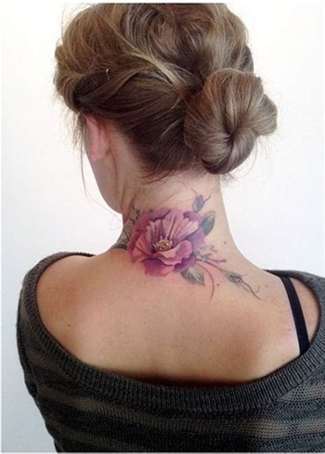 ruby rose neck tattoo 53 fantastic back neck tattoos