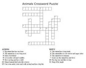 Kids crossword puzzles print your animals crossword puzzle puzzle