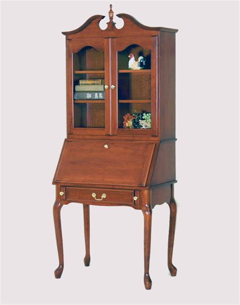 vintage queen anne desk queen anne secretary desk with hutch