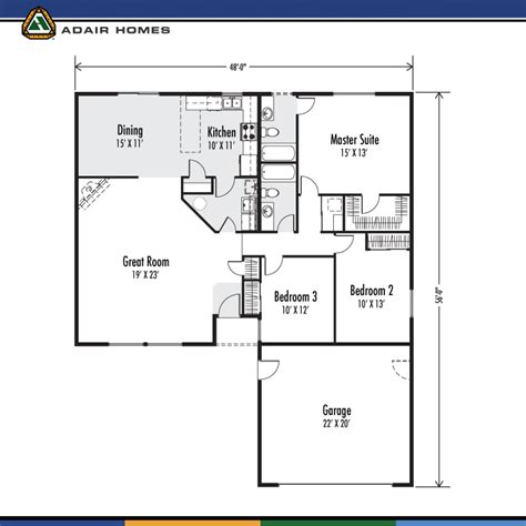 adair home floor plans adair homes the deschutes 1702 home plan