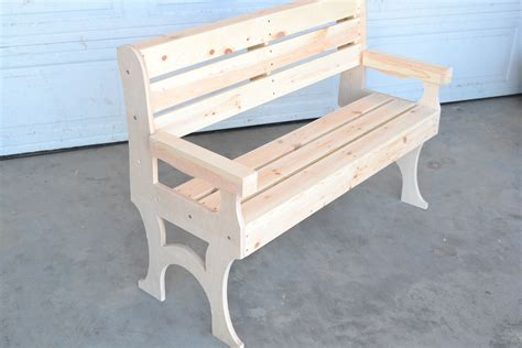 wooden park bench poole sons inc