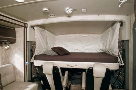 drop down bed winnebago via class a motorhome studio loft drop down