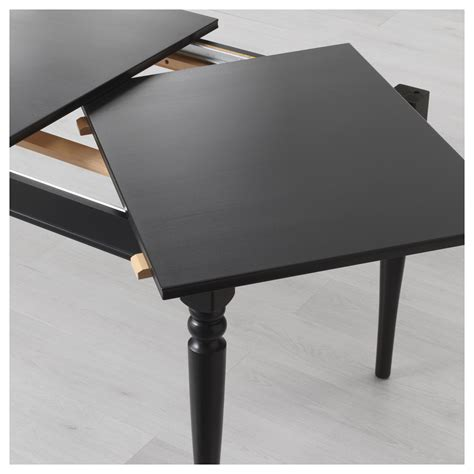 ingatorp extendable table black 155 215x87 cm ikea