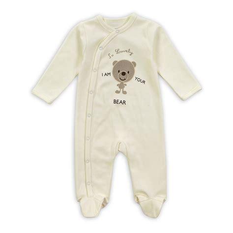Unisex Newborn Sleepers by Newborn Sleeve Collar Baby Pyjama Unisex