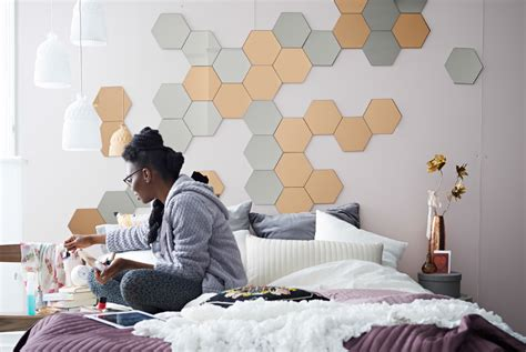 where to put a mirror in a bedroom bedroom update create a diy fabric tape headboard decorate with mirrors bring