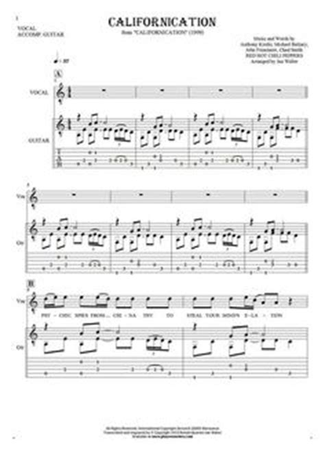 theme song californication californication notes and tablature for guitar guitar