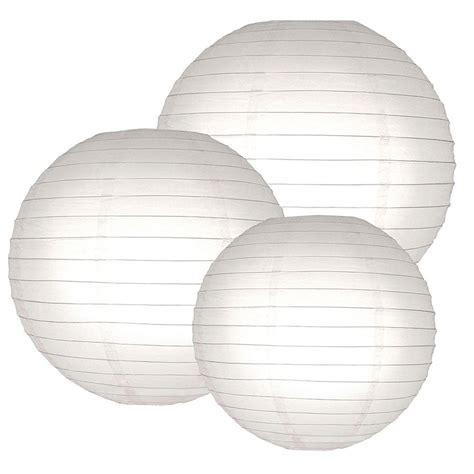 Paper Lantern White lumabase multi size white paper lanterns 6 count