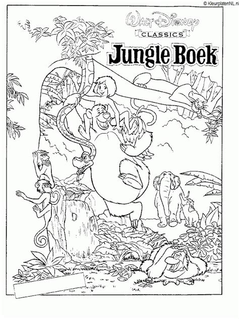 printable coloring pages jungle book jungle book kleurplaten kleuren net