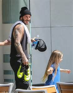 beckham bird tattoo david beckham flashes his new ankle tattoo as he hits the