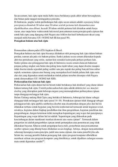 Buku Hak Cipta Dan Perlindungan Folklor Di Indonesia hak cipta hak paten merek desain industri dan dagang2