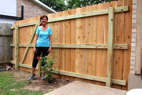 building small fence cedar planks yard and