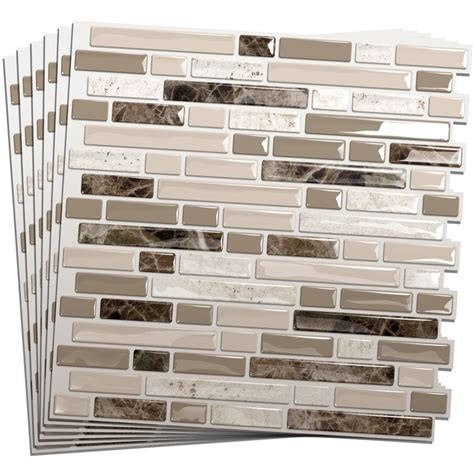6 pieces peel and stick tile vinyl kitchen backsplash 30 great ideas and pictures of self adhesive vinyl floor