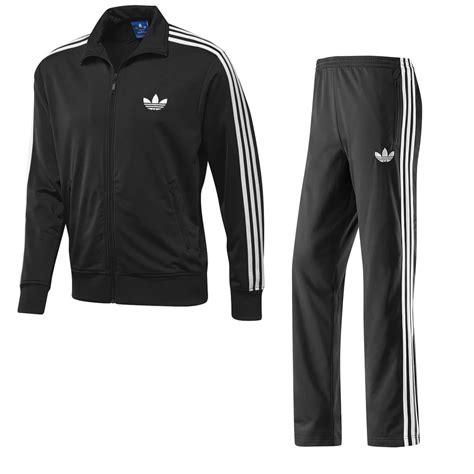 Jaket Adidas Black Zebrajaket Adidas Sport Adidas Originals Mens Firebird Track Suit Black Size S M L