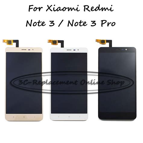 Promo Xiaomi Redmi Note 3 Pro 332 Gold Bonus 1 146mm black white gold for xiaomi hongmi redmi note3 pro note 3 pro lcd display touch screen