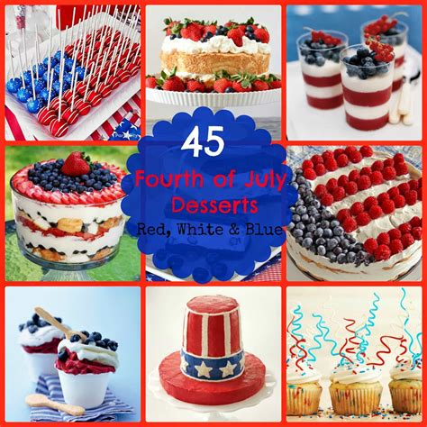 45 red white blue fourth of july desserts this ole mom