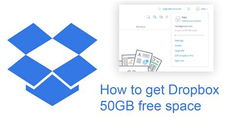 dropbox free how to get 50gb of dropbox storage free youtube