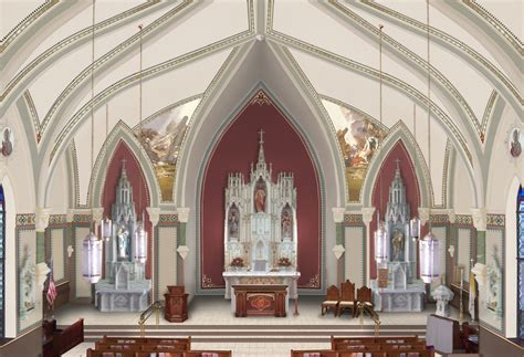 church interior sketch saints and paul catholic church