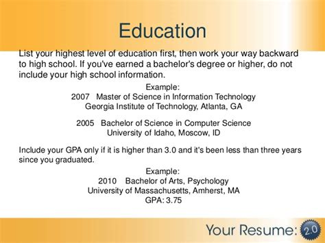 what do you put for education on a resume how to draft your resume or cv after you quit