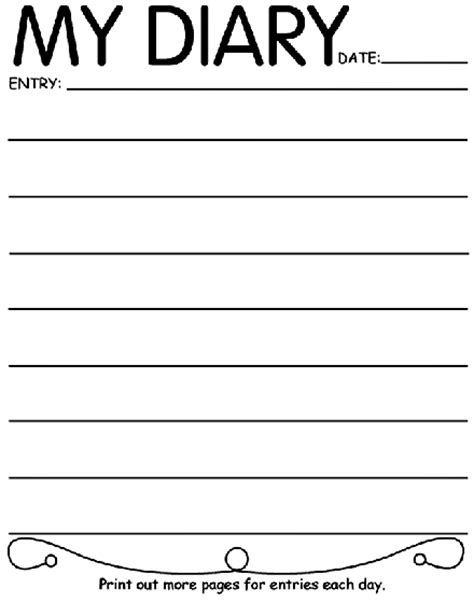 My Diary my diary coloring page crayola