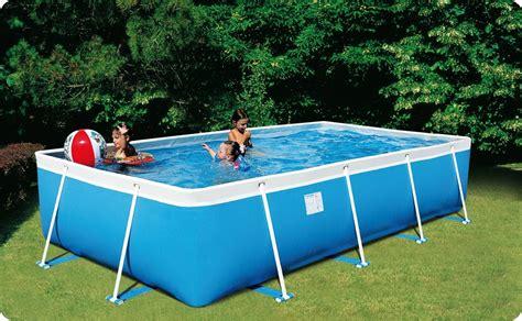 piscina esterna da giardino piscina fuori terra da esterno rettangolare new plast
