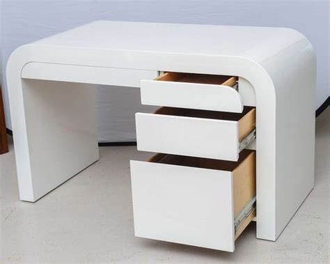 Modern Desks White by Mid Century Modern White Lacquer Desk At 1stdibs