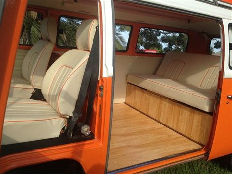 volkswagen kombi interior vw kombi 1977 orange crush interior vw