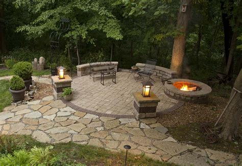 Firepit Designs Outdoor Pit Seating Ideas Corner