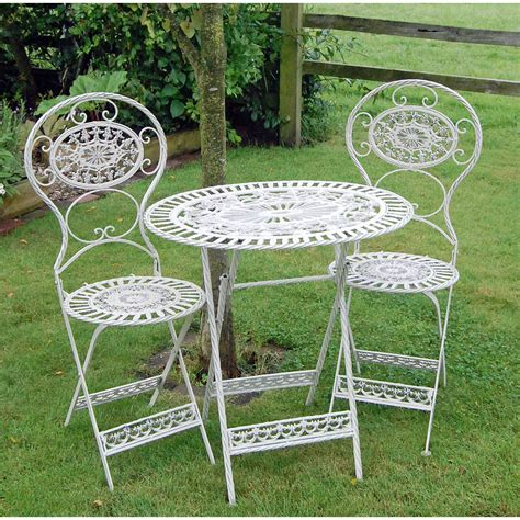 Garden Bistro Chairs Classic Estate Cast Metal Garden Table And Chairs