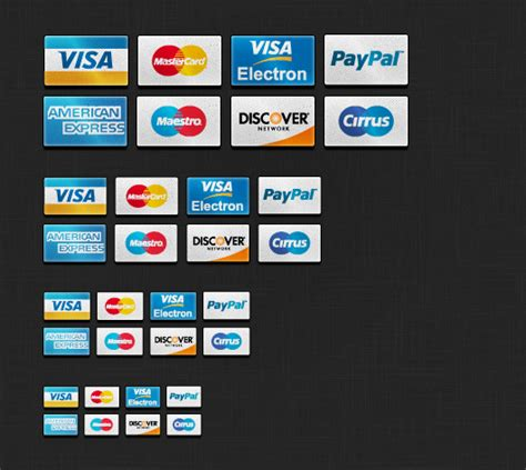 Can I Add Visa Gift Card To Paypal - credit card icons set psd