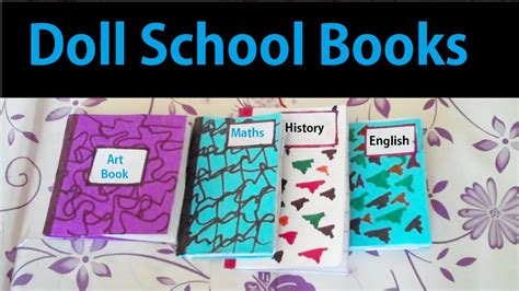 How To Make A School Paper - how to make mini school books easy paper craft