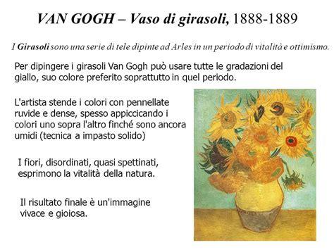 vaso di girasoli gogh il post impressionismo ppt scaricare