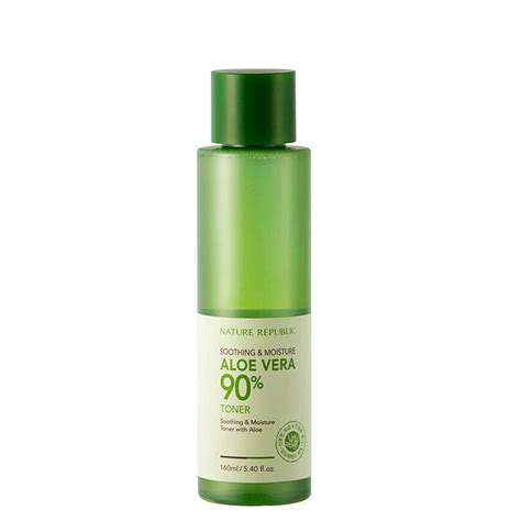 Toner Aloe Vera The Shop nature republic aloe vera 90 toner crownbox