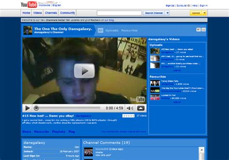 youtube first layout youtube new user page layout dan s tech blog