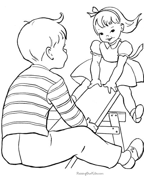 Children Sharing Coloring Pages Coloring Home Free Coloring Pages For Children