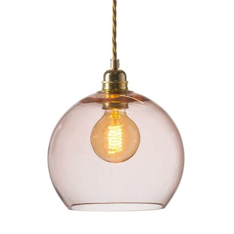 Coral Pendant Light Rowan Small Ceiling Pendant Light In Transparent Coral Pink Glass
