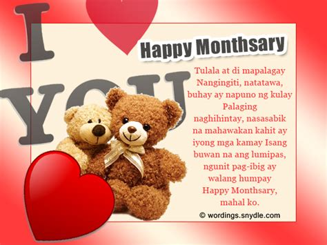 Wedding Anniversary Quotes For Tagalog by Tagalog Monthsary Messages Wordings And Messages