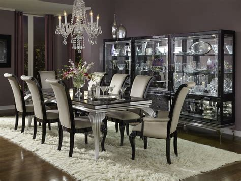 aico dining room furniture aico hollywood swank starry night black iguana dining set