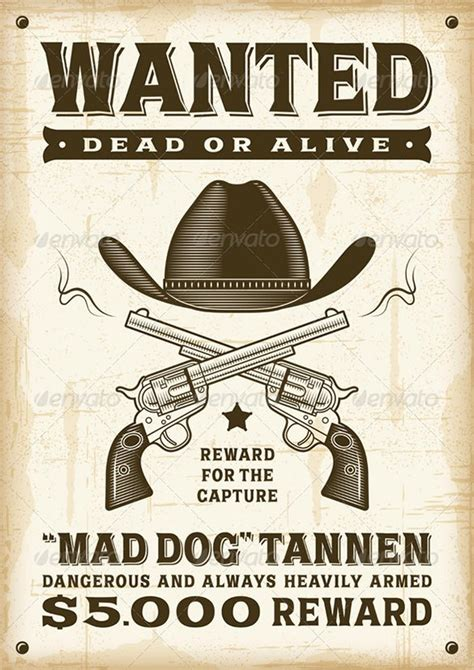 13 Western Wanted Poster Free Printable Word Pdf Psd Vector Eps Format Download Free West Wanted Poster Template Free